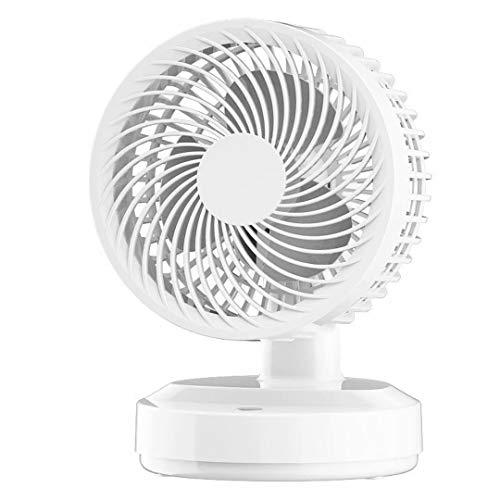 USB Desk Fan,4000mAh Rechargeable Battery Operated, 3 Speeds Table Fan Mini Portable Fan with Strong Airflow,Noiseless,LED Indicator,Desktop Personal Fan, 80 Degree Shake Head