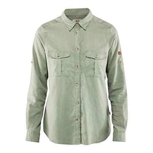 Fjallraven Övik Travel Shirt LS W, Sage Green, XL Womens