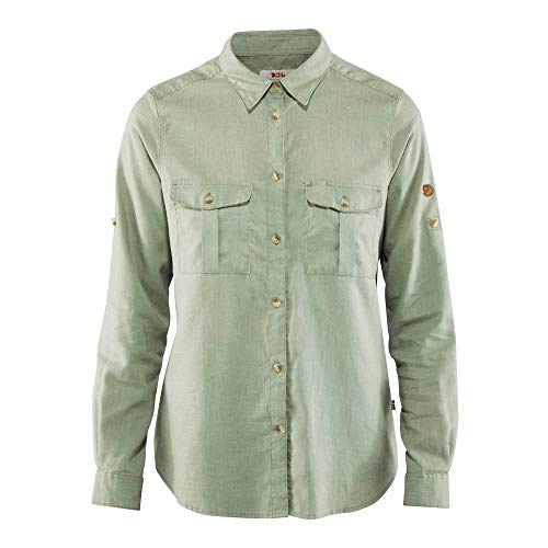 FJÄLLRÄVEN Damen Övik Travel Shirt LS W, Sage Green, M