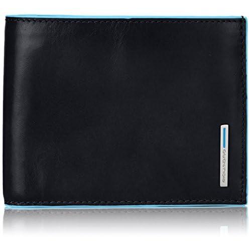 Piquadro PU1240B2/N Blue Square Portafoglio, Nero, 12 cm