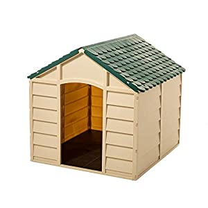 Starplast Dog House Kennel – Weather & Water Resistant – Easy Assembly – Perfect for Small to Large Sized Dogs