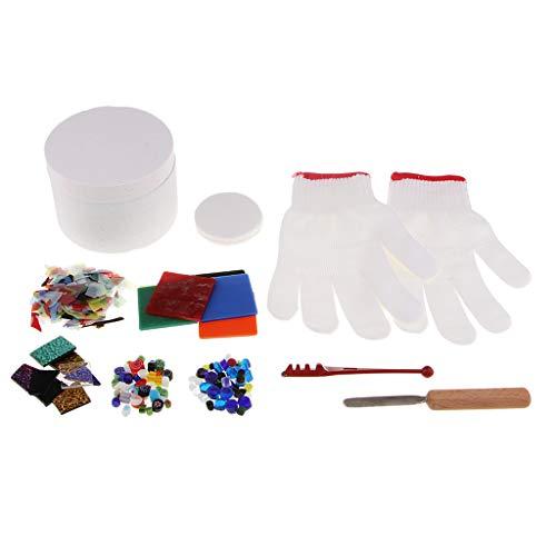 harayaa 10 Piezas por Vitral Suministros de Kit de Horno de Microondas Joyería de Bricolaje