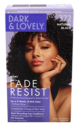 Dark & Lovely Color #372 Natural Black with Free Nail File by Dark & Lovely