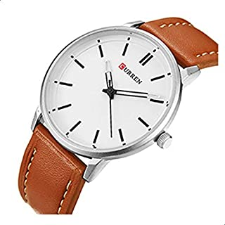 Curren Casual Watch For Men - Leather Band - 8233