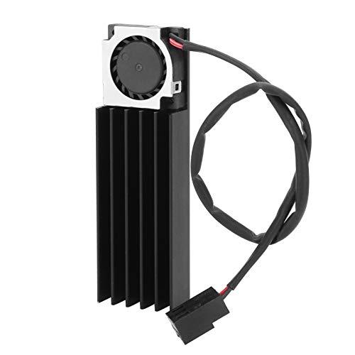 PUSOKEI Disipador de Calor M.2 - Radiador SSD Módulo térmico del disipador de Calor del conducto de Aire de 3 Pines para Todos los Discos Duros M.2 2280 y computadoras de Escritorio