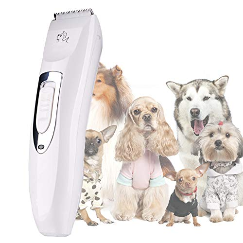 WYQWANLJX Pet Grooming Clippers, Pet Professional Quiet Low Noise Rechargeable Dog Grooming Clippers Cordless Pet Hair Trimmer, Best Hair Clipper for Dogs Cats Pets