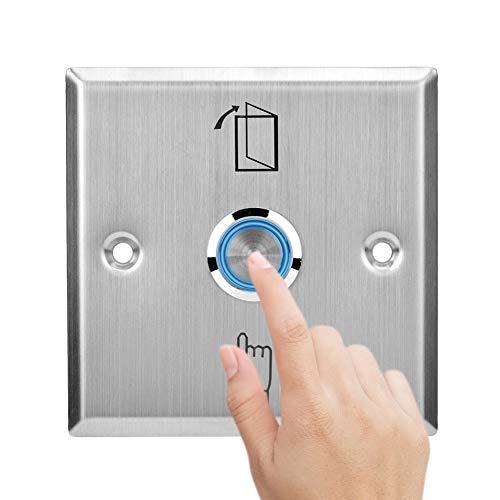 Botón de Salida de Puerta, Pulsador Interruptor de Liberación de Puerta de Acero Inoxidable Con Luz Indicadora Para Sistema de Control de Acceso de Puerta