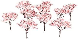 20pcs 6.5cm Blossom Cherry HO OO Scale Model Trees Scenery Railroad Layout Scene