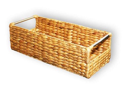 KMH®, Extra schmale Korb-Box aus geflochtener Wasserhyazinthe (#204034)
