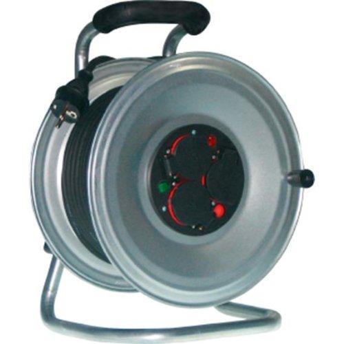 Hedi GmbH électriques et geraetebau k2s40ntf Enrouleur de câble Tôle l.40 m 3 x Hedi H07RN-F 3 x 1,5 mm2 Schuko avec protection thermique