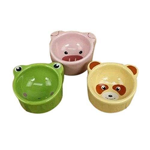 Lazzykit Futternapf Keramiknapf für Hamster Mäuse Meerschweinchen Igel Futtertrog Tiere Form NAPF