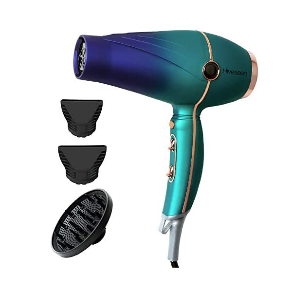 Beauty Shopping Hiveseen Professional Salon Hair Dryer 2300W, Powerful AC Motor Blow Dryer with Negative