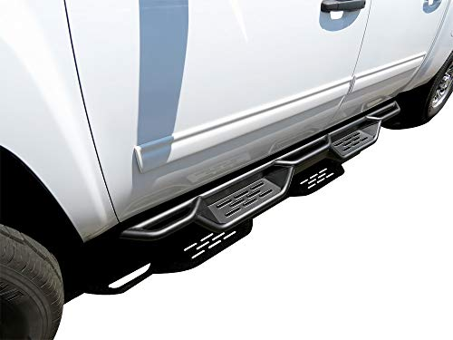 APS Auto Black 6 Inches Drop Style Nerf Bars Running Boards Compatible with 2007-2018 Chevy Silverado Sierra 1500 & 2007-2019 Chevy Silverado Sierra 2500HD 3500HD Crew Cab Pickup 4-Door