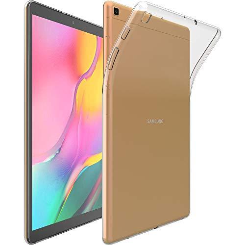 ebestStar - kompatibel mit Samsung Galaxy Tab A 10.1 2019 Hülle T510 T515 Handyhülle, Premium Durchsichtige Klar TPU Schutzhülle, Soft Flex Silikon, Transparent [Tab: 245 x 149 x 7.5mm, 10.1'']