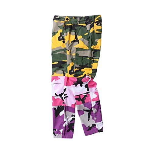 MEIHAOWEI Damen Herren Jogging Hose Lila Rosa Grau Camo Hose Hose Cargo Hose Streetwear Hip Hop Harem Jogger Camouflage Hose