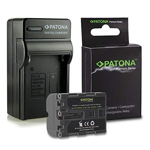 Cargador + Premium Batería NP-FM500H FM-500H para Sony Alpha DSLR-A100 | DSLR-A200...