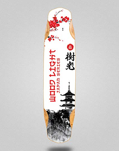 Wood light Skateboard Longboard Deck Mix Bamboo 38x8.45 Japan Series Palace
