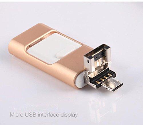 Memorias USB 3.0 para iPhone OTG Pen-Drive Memoria, unidad de pulgar Lightning Memory Stick Almacenamiento Externo, Expansión de memoria para Apple IOS Android rosa 32 gb