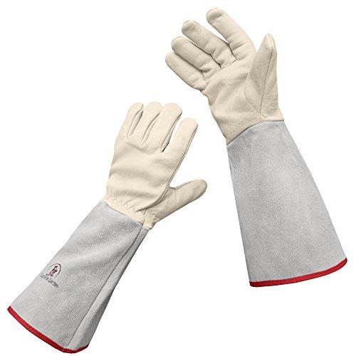 Euphoria Garden Thornproof Leather ROSE GARDENING Gauntlet Gloves – Large