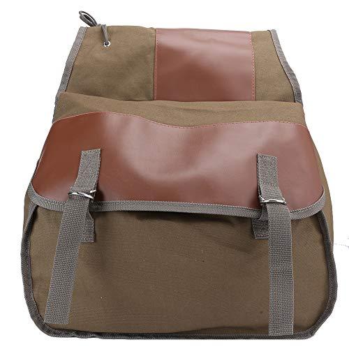 NITRIP Bicycle Rear Bag, Bike Rear Bag Mountain Bike Bag Motorcycle Equipment with Adjustable Hooks for Shopping Picnic Camping