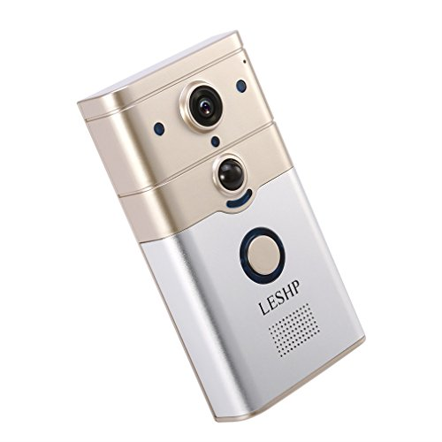LESHP Wi-Fi Smart Doorbell, Wireless Remote Control Electronic Visible HD 720P Video Türklingel