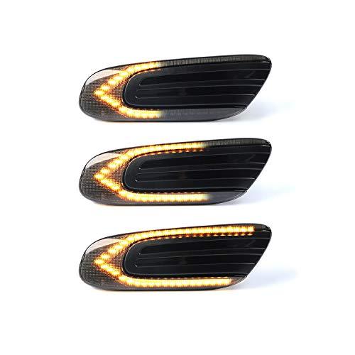 Intermitentes laterales LED OZ-LAMPE 2 X dinámica LED Intermitentes laterales ámbar 36 SMD con no polaridad CAN-bus Libre de errores OE Socket Fumar para BM-W MINI COOPER F54 F55 F56 F57 2014-2020