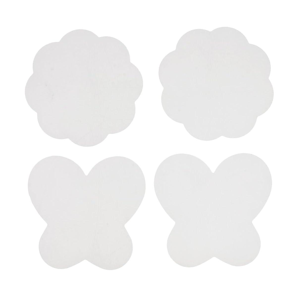 目を覚ますプロット健康的Kesoto 4個 ネイルアートパッド シリコン ミキシングペイント マット 折り畳み式 洗える  全4色 - クリア