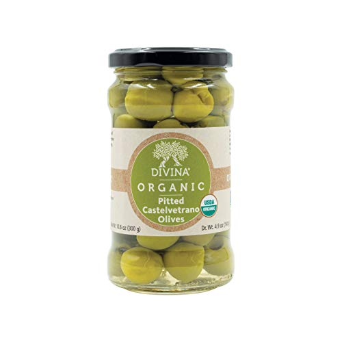 Divina Organic Castelvetrano Pitted Olives, 10.6 Ounce