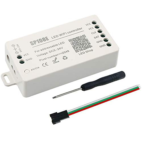 VIPMOON DC5~24V SP108E WIFI-Controller für SK6812 SK6812-RGBW WS2812 WS2813 WS2815 AL2815 Lichtleiste, iOS/Android-App-Gruppensteuerung