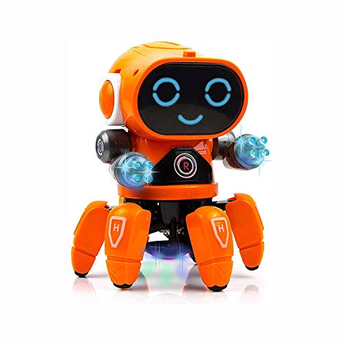 Metro Toy's & Gift Battery Toys Dancing Robot Toys for Kids Boys & Girls with Music and LED Colorful Flashing Lights Electronic Toys Battery car for Kids 10 Year Old boy (Boat Robot)
