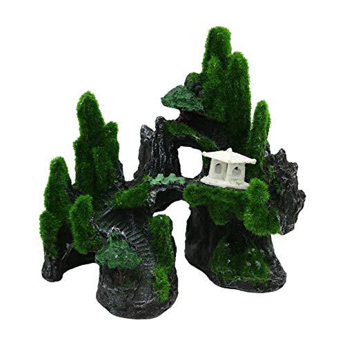 Baoblaze Acuario Ornamento rocosa Micro Paisaje Peces Tanque decoración Artificial Arrecife Cueva Fondo artesanías