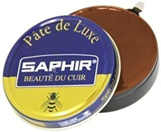 Saphir Beaute Du Cuir Pate De Luxe High Gloss Light Brown Shoe Polish 50ml