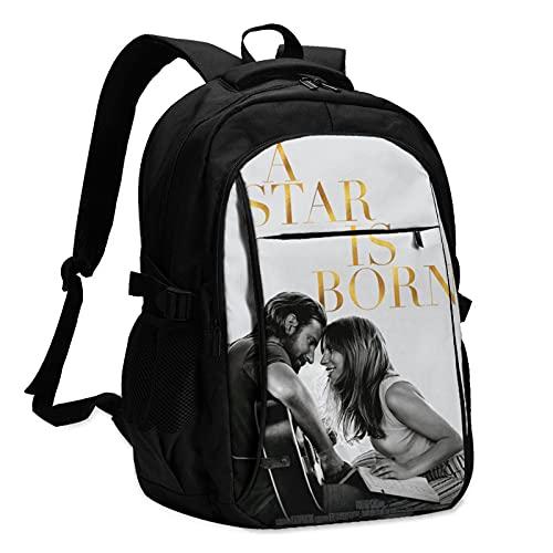 JIHOLIO Lady Gaga Bradley Cooper A Star is Born USB backpack