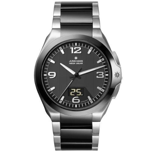 Junghans Herren-Armbanduhr XL Spektrum Analog Quarz Edelstahl 018/1120.44