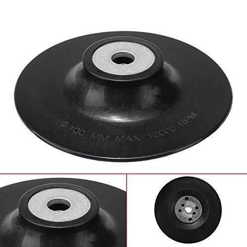 NO LOGO WSF-Adapter, 1pc 4-Zoll-Durchmesser von 100 mm Gummirücken Pad Schleifteller M14 for Winkelschleifer Poliermaschine Schleifscheibe