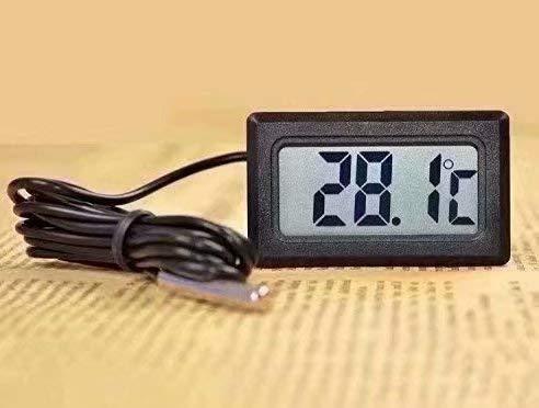 Elektronisches Digital-Thermometer für Aquarium, Kühlschrank, Wassertemperaturanzeige, Thermometer, wasserdichte Sonde
