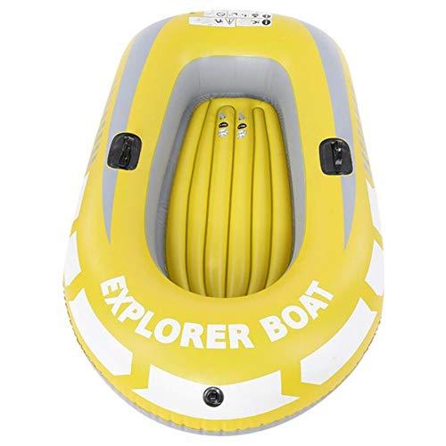 WJJJ Aufblasbares Kajakkanu für 1 Person, 90 kg, Rudern, Luftboot, Doppelventil, Drifting, Tauchen, Aufblasbares Boot, Angelboot.