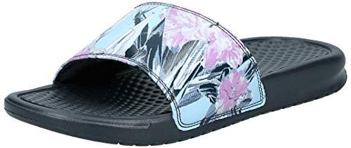 Nike Wmns Benassi JDI Print, Zapatos de Playa y Piscina para Mujer, Multicolor (Anthracite/Topaz Mist/Pink Rise 026), 35.5 EU