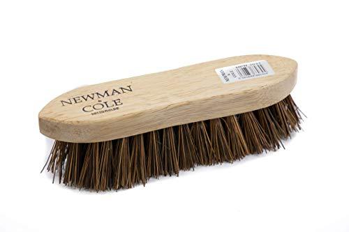 Cepillo de madera para fregar las manos de alta resistencia con madera y cerdas de bassine natural rígidas – ideal para suelos de madera y azulejos limpiadores de botas y lechada 22cm x 5.5cm x 6cm