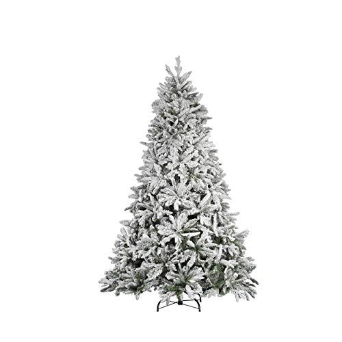 Mazzeo Albero di Natale innevato Pino del Gargano cm 210 con Apertura a Ombrello