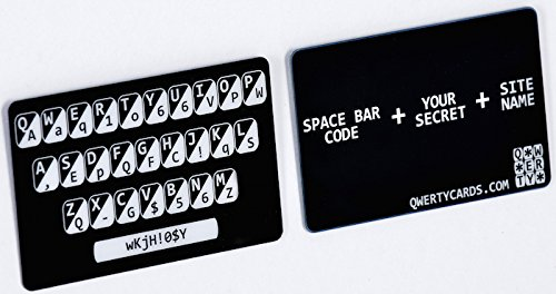 Qwertycards - The simple plastic card that goes in your wallet for easy to remember very strong passwords