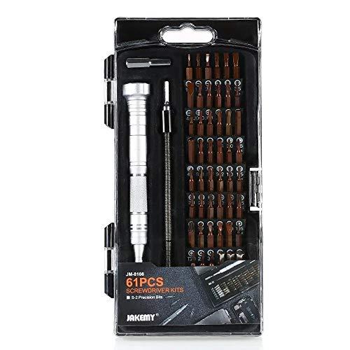 Herramientas para Reparar JM-8166 61 en 1 Kits de Destornilladores Kit de Herramientas de reparación Manual Fácil de Usar y Reparar.