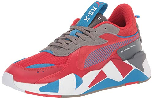 PUMA Men's Sneaker, High Risk red-Steel Gray-Indigo Bunting, 8 M US
