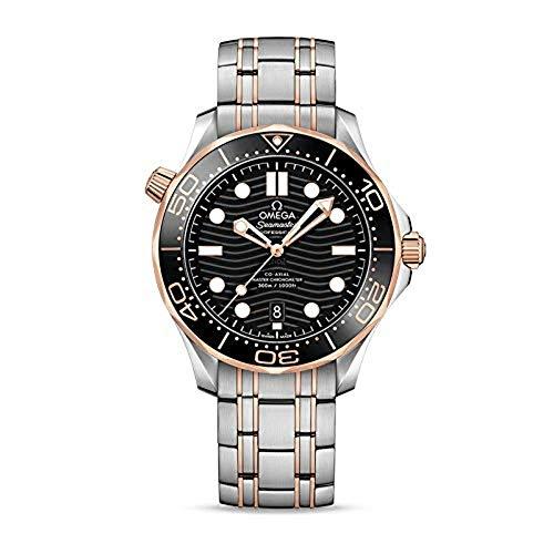 Omega Seamaster automatico orologio da uomo quadrante nero 210.20.42.20.01.001