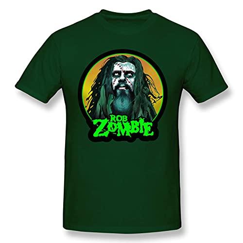 Rob Zombie - Camiseta de Manga Corta de Algod¨n a la Moda para Hombres y j¨Venes, Camiseta gr¨¢fica 4X-Large
