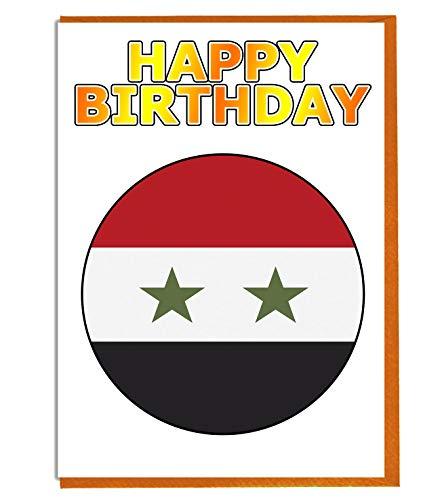Syrië Vlag - Verjaardagskaart - Vriend - Familie - Collega - Mate - Boss - Loved One