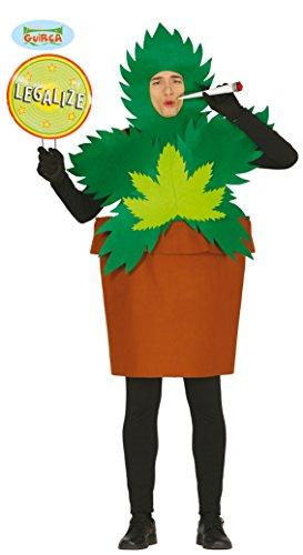 Guirca Marihuana Pflanze in Topf als Kostüm für Erwachsene, Größe:L