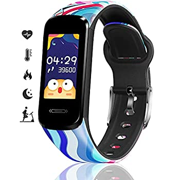 MorePro Fitness Tracker for Kids Activity Tracker with Temperature Heart Rate Blood Pressure Monitor Waterproof Sport Smart Watch with Sleep Step Tracking Great Kids Watches for Boys Girls Teens