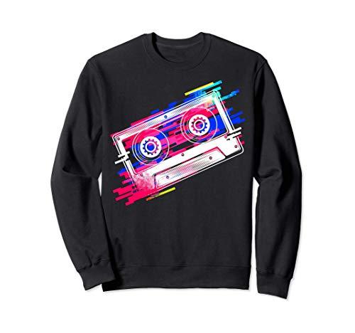 Disfraz de cinta de cassette 80s 90s Vintage Retro Mixtape Sudadera