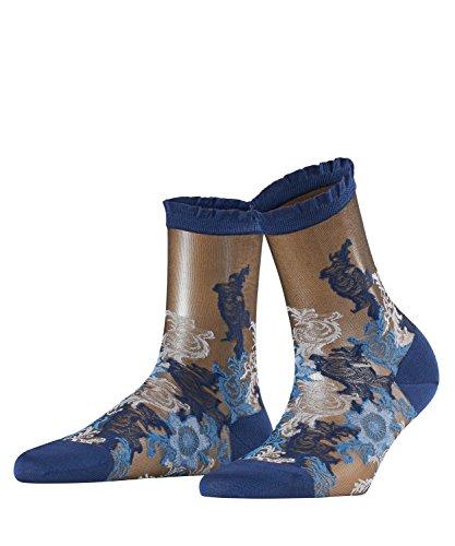 FALKE Damen Socken Majolica, Baumwollmischung, 1 Paar, Blau (Royal Blue 6000), Größe: 41-42